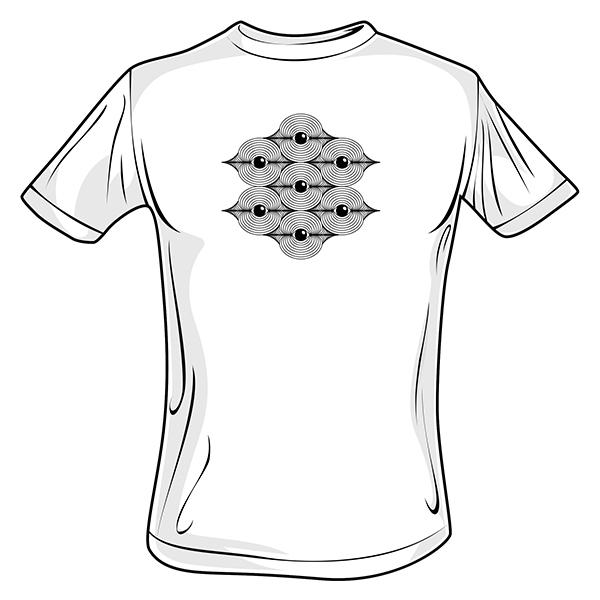 Quanta Eyes Hexagram T Shirts 600