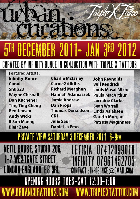 Urban curations december 3rd 2011 january 3rd 2012 netil for Charlie cu tattoo